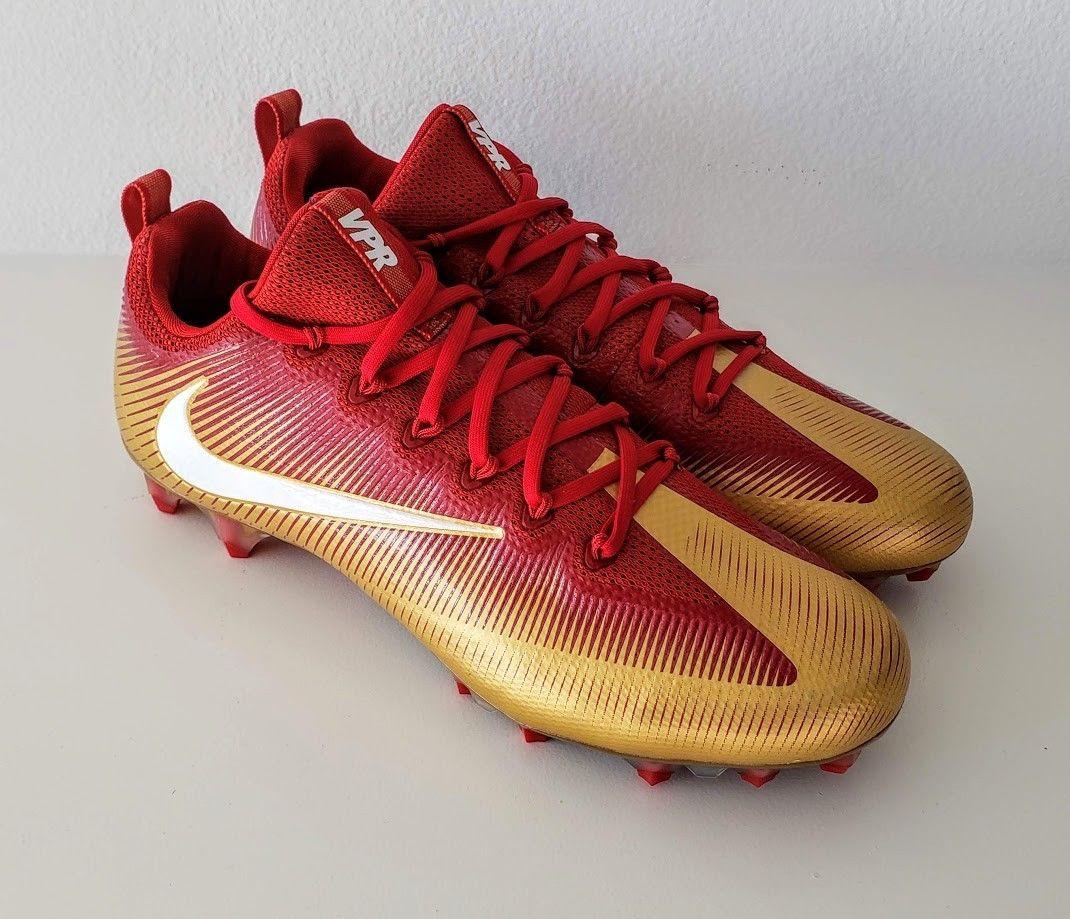 ae0ede681 S l1600. S l1600. Previous. Nike Vapor Untouchable Pro Carbon Football  Cleats Red Gold 925423-728 Size 14