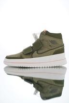 Nike Air Jordan Retro 1 Hi Double Strap Men's Shoes Olive Canvas AQ7924-305 - $110.00