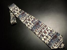 Metropolitan Museum Of Art New Directions Neck Tie Horizontal Bands Reds Creams - $10.99