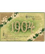 Die Besten Wunshe German 1904 New Year Post Card  - $10.00