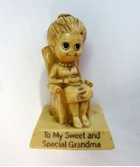 1976 Russ & Wallace R & W Berrie Sweet and Special Grandma Sillisculpt 9... - $8.99