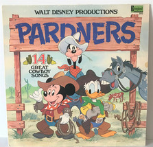 Vintage 1980 Pardners 14 Great Cowboy Songs Walt Disney Vinyl Record RMP33 - $10.99