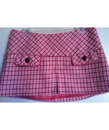 ABERCROMBIE & FITCH cute mini skirt pink red gingham plaid NEW 6 miniski... - $49.99
