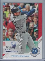 EVAN LONGORIA 2017 Topps Jackie Robinson Day Red #14/25 #JRD-4   D6737 - $8.06