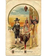 Thanksgiving  Greetings John Winsch vintage Post Card  - $6.00