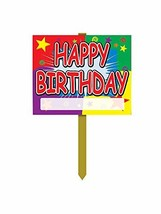 Happy Birthday Yard Sign Party Accessory 1 count - $18.66