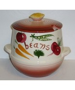 Vintage Pottery BEAN and/or CHILI Pot - Cracker Lid - $15.00