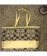 Coach Yellow Signature Diaper Laptop Tote Bag Large Multi Purpose - $94.05