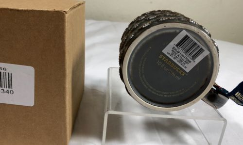 Starbucks 10oz Anniversary 2015 Mug Coffee Cup Mermaid 3D Gold Scales Metallic
