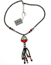 Necklace Antica Murrina Venezia with Murano Glass Red Black Silver CO852A14 image 1