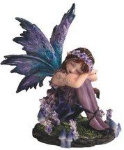 4.25 Inch Sleeping Fairy Blue Statue Figurine Figure Collectible Magic Fantasy - $28.00
