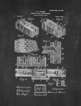Concrete Wall for Buildings Patent Print - Chalkboard - $7.95+