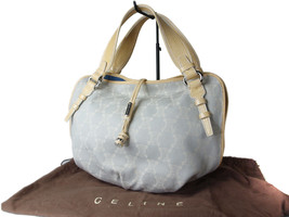 Auth CELINE Bitter Sweet Canvas Leather Light Blue Tote Bag CT13838L - $169.00