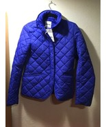 Aspesi Quilted Thermal Jacket Womens Blue Nano Puffer Zip Coat Sz Italy ... - $100.00