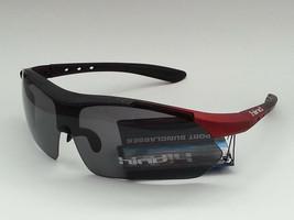 HIND Men Sport Sunglasses Wrap Style Black Lens  - $19.35