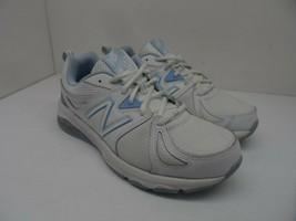 New Balance Women's 857v2 Running Sneakers WX857WB2 White/Blue Size 7.5 2E - $37.99