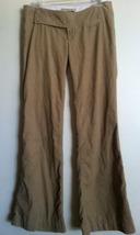 ABERCROMBIE & FITCH beige tan khaki corduroy pants size 2 moose stitch logo - $19.99
