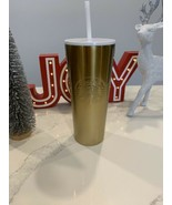 STARBUCKS HOLIDAY 2019 VENTI GOLD TUMBLER LIMITED EDITION BRAND NEW FAST... - $54.55