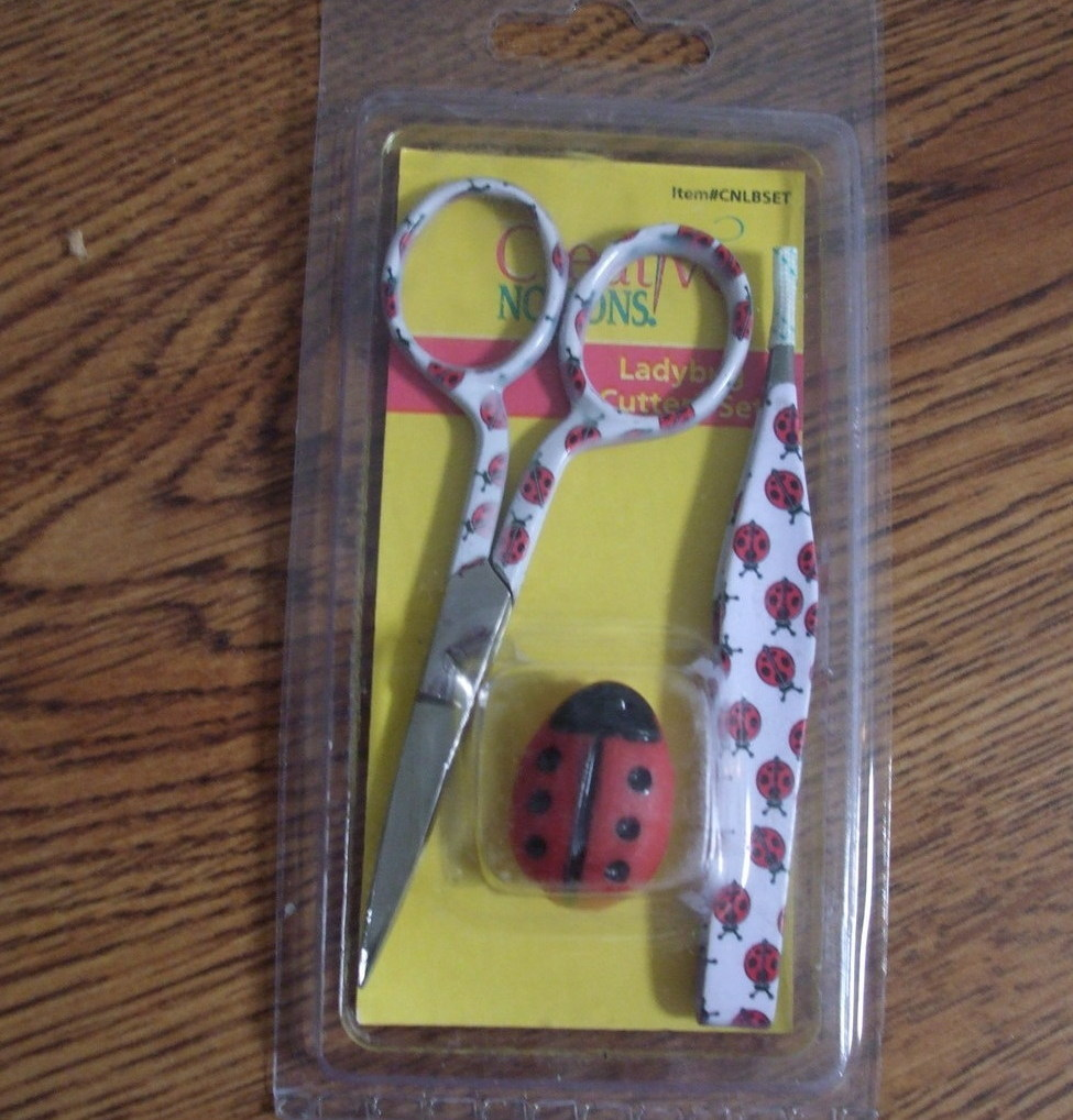 Ladybug Embroidery Scissors Set
