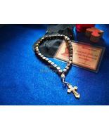 33 bead Burnt Horn Cube chotki with Orthodox Cr... - $27.95