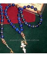 33 bead Lapis Lazuli & Copper chotki,  Orthodox... - $27.00