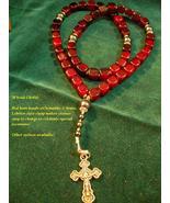 50 Cube Red Horn Chotki - Orthodox Cross & Pray... - $27.95