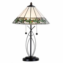 Tiffany Style Table Lamp Victorian Stained Glass Home Décor Modern Base ... - $89.99