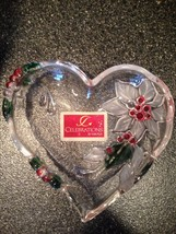 Celebrations by Mikasa Heart Shaped Poinsettia Dish Holiday Bloom Collec... - $18.99