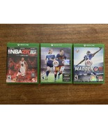 Xbox One sports Game Lot fifa 16 nba 2k16 madden16 xbox one - $20.90