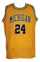 Jimmy King #24 College Retro Basketball Jersey Sewn Gold Any Size image 4