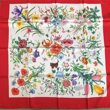 GUCCI Scarf Scarves Stole Shawl Silk 100% Floral Women Luxury Auth Italy... - $317.59