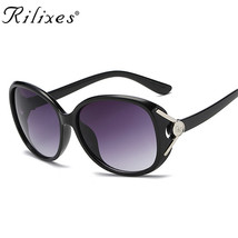 Vintage Crystal Sunglasses Women Female With Flower Gradient Sun Glasse... - $8.90