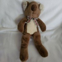 Manhattan Toy Stuffed Plush Koala Bear Tan Brown Plaid Ribbon Bow 1996 - $128.69