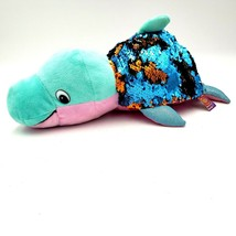 Flip a Zoo Reversible Sequin Danika Dolphin Blushes Seal Brushable Sequi... - $24.88