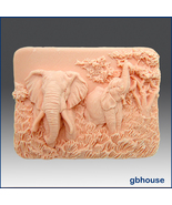 2 D Silicone Soap Mold – Enchanting Elephants - $26.00