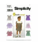 Girls Sizes 2 - 4 Simplicity 8065 Classic Easy ... - $6.00