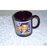 ELVIS Black Coffee Mug/Cup ~1992 Stamp Design - $5.00