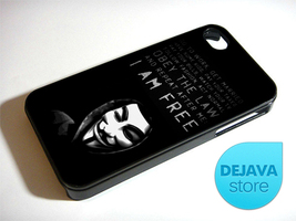 Anonymous Mask Quote iPhone 4 / 4S Case - $14.95