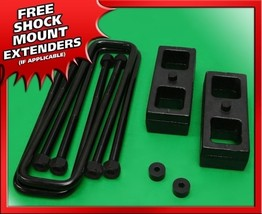 "For 99-20 Silverado Sierra 1500 Rear 1.5"" Steel Blocks + U-bolts Lift Ki... - $75.00"