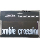 Zombie Crossing Black Caution Halloween Fright Tape 20 feet long - $3.99