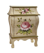 Antique Night Stand w/Floral Art, Nearly Natural - $228.20
