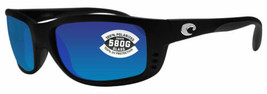 Costa Del Mar Sunglasses Zane Matte Black Frame Blue Mirrored Glass 580G... - $138.59
