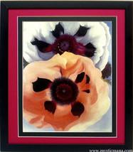 Poppies Flower Georgia O'keeffe Flower Art Framed Poster - $65.00