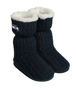 Seattle Seahawks Womens Knit Boots Slippers New Size 11-12 XL Blue NFL Licensed  - $34.91