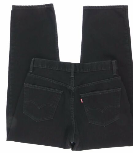 LEVI RED TAG Men's Black Straight Leg Fit Size 34 x 32 Zipper Fly Cotton EC image 4