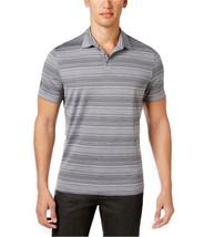 Alfani Men's Tech Striped Polo, Boulder,Size M, MSRP $45 - $19.79