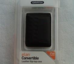 Flip Top Case iPod Nano 3G Black Leather Griffin NEW - $7.95