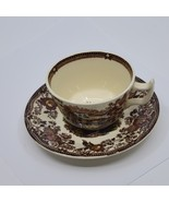 Multicolor Royal Staffordshire Clarice Cliff TONQUIN Tea Cup & Saucer  - $20.00