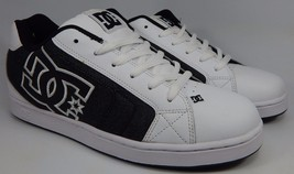 DC Net Leather Men's Skate Skateboarding Shoes Sz US 10 M (D) EU 43 Black White