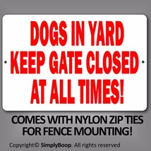 """Beware of Dogs Keep Gate Closed Sign 100% Aluminum Brand New 8"""" x 12"""" Re... - $15.83"""